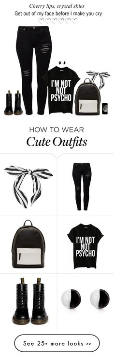 """""""I'm not not psycho. // School Outfit"""" by rashana on Polyvore"""