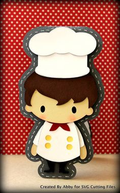Scrapbookaholic By Abby: Cooking Boy Chef Zoo Activities Preschool, Class Door Decorations, Cooking Clipart, Chef Costume, Chef Party, Character Design Animation, Le Chef, Clear Stamps, Paper Piecing