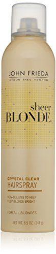 nice John Frieda Sheer Blonde Crystal Clear Shape and Shimmer Hair Spray, Ounce Hair Sprays, Style Guides, Dress Skirt, Hair Care, Shampoo, Free Shipping, Crystals, Amazon, Beauty