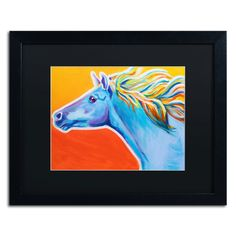 'Horse Like The Wind' by Alicia VanNoy Call Framed Painting Print