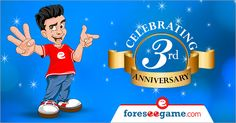 Foreseegame Completes it's 3rd Successful Year..Let's Play More & Enjoy This Day!
