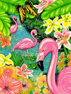 Bright Tropical Area Rugs Flamingo Rug Contemporary Carpetexuberantly