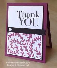 Another Thank You, Into the Woods Designer Series Paper, Stampin' Up!, Brian King