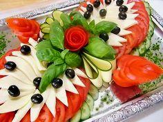 УКРАШЕНИЕ ДОМАШНИХ БЛЮД.Рецепты, пошаговые фото Овощная тарелка ♥♥♥