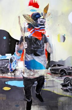 Artist: Joram Roukes Born 1983 in the Netherlands. Joram Roukes just finished his mural in Kaka'ako, Hawaii for POW! Hawaii This is a great occasion to make a small retrospective of his work. His large oil paintings are build-ups or. Pop Art Illustration, Examples Of Art, Sad Art, Unusual Art, Glitch Art, Weird And Wonderful, Surreal Art, Figurative Art, Art Images