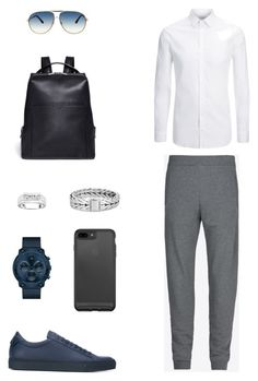 """House of Madalani"" by houseofmadalani on Polyvore featuring Maison Margiela, Joseph, Givenchy, Movado, John Hardy, Tom Ford, Valextra, men's fashion and menswear"
