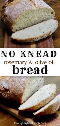 No knead rosemary and olive oil bread is so easy to make. A delicious bread that can be made evey day. You don't need any type of mixer. Just your hands. Perfect for soups and stews. Put your dutch oven to good use and make this bread.