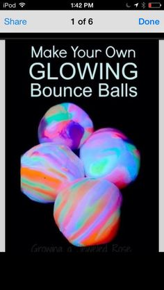 DIY Glowing Bounce Balls #Family #Trusper #Tip