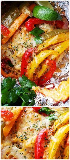 Hähnchen-Reis-Fajitas In Folie - Amazing Foods Menu Recipes Foil Packet Dinners, Foil Pack Meals, Foil Dinners, Foil Packets, Healthy Eating Tips, Healthy Recipes, Healthy Nutrition, Delicious Recipes, Healthy Food