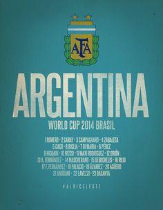 Argentina World Cup 2014 Celebrative Artwork by SoccerSupply on deviantART