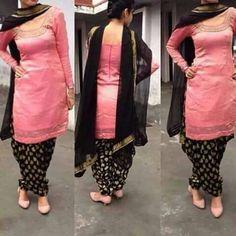 Pink n black suit