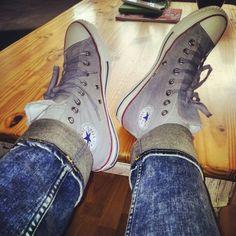 Fresh All Stars <3 grey converse all star