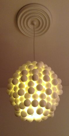 Verner Panton Wonderlamp ball chandelier white by ICONICLIGHTS