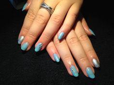 Cnd shellac azure wish, silver chrome