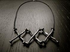 Black Plague Necklace by charlotteburkhart on Etsy, $240.00