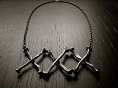 Black Plague Necklace by charlotteburkhart on Etsy, $240.00