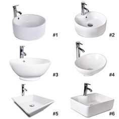 Bathroom Vessel Sink Ceramic Basin Bowl Chrome Faucet Pop Up Drain Set Washroom - Bathroom Sinks - Ideas of Bathroom Sinks Counter Top Sink Bathroom, Bathroom Sink Bowls, Drop In Bathroom Sinks, Best Bathroom Vanities, Washroom, Bathroom Photos, Bathroom Cabinets, Bathroom Flooring, Master Bathroom