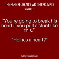 Sign Up For The Newsletter | Shop The eBooks Prompt Library The complete library of the original writing prompts written by The Fake Redhead Prompt Library Inspired? Click on a prompt and leave a c…