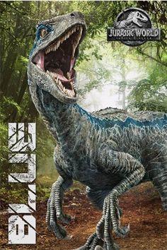Jurassic World Fallen Kingdom Blue Maxi Poster