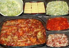 Lasagnes aux courgettes et chèvre. (Recettes légères)