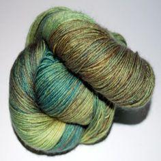 100% BFL Wool DK - Hobbit Habitat- from Ancient Arts Fibre Crafts....wonderful site, gorgeous wool