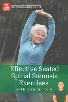 Do you have lumbar spinal stenosis? While there is no cure, there are back pain stretches you can do to ease your spinal stenosis pain. Check out these three exercises to due daily and decrease your lower back pain! The beauty of these spinal stenosis stretches? You can do them all seated! Back Stretches For Pain, Lower Back Exercises, Senior Fitness, Fitness Tips, Lumbar Spinal Stenosis, Piriformis Syndrome, Sciatic Pain, Back Pain Relief, Natural Living