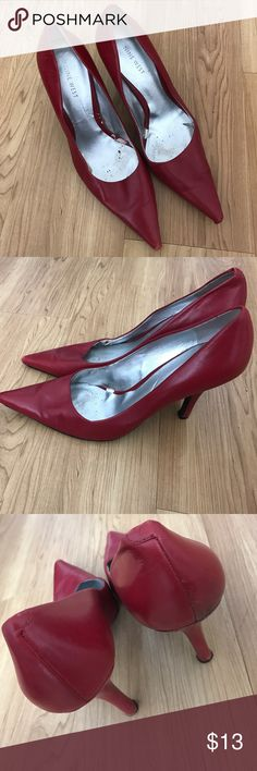 Nine West Red Heels Red size 8.5 Nine West heels. Good condition but a bit of wear on heels and front tip. Nine West Shoes Heels