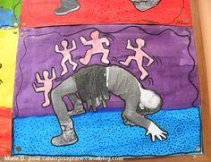 Je découvre cette oeuvre de Keith Haring avec admiration, mais j'admire encore plus le parti qu'a su en tirer Marie en classe avec ses... Keith Haring, Art Kandinsky, Street Art, Ecole Art, Preschool Art, Art Studies, Art Club, Art Plastique, Teaching Art