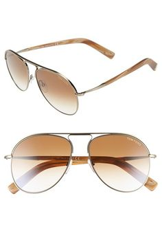 20ebc9bc362 Tom Ford  Cody  56mm Aviator Sunglasses Womens Toms