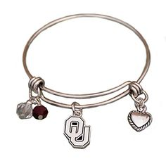 Silver Tone Wire Bracelet with Oklahoma Sooners Charm and Colors Sports Team Accessories http://www.amazon.com/dp/B01BIE8IC8/ref=cm_sw_r_pi_dp_IgU3wb15QM9SR
