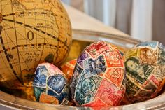 Fun idea to use when you don't need the plastic easter eggs anymore! Mod-podge!