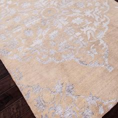 $590.95: Hand-knotted wool and art silk rug with a damask diamond motif.   Product: RugConstruction Material: Wool and art silk...