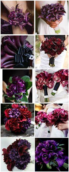 Wine colored wedding bouquets vineyard weddings, winery