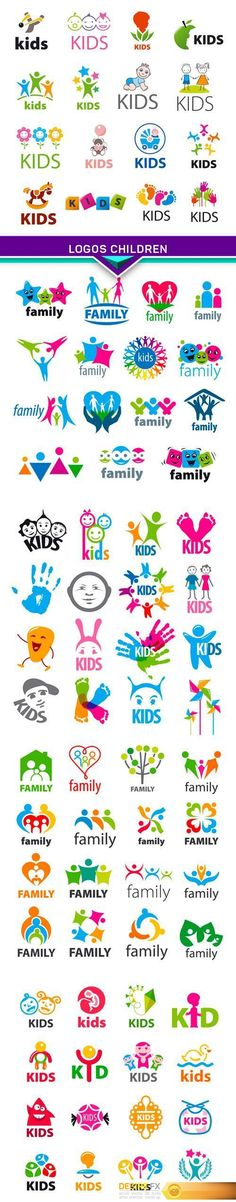 Find your Grapfix Desire With US http://www.desirefx.me/large-collection-of-vector-logos-children-5x-eps/