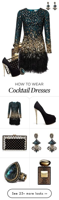 """""""Leopard Jewels"""" by kylen91 on Polyvore featuring Armani Beauty, Charlotte Olympia, Anton Heunis, Armenta and Giuseppe Zanotti"""