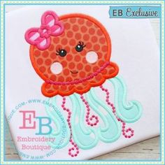 Girly Jellyfish Applique