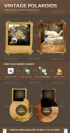 db12274e3999 Buy Vintage Polaroid Frames by machella on GraphicRiver. Features Real  textures
