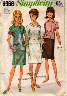 1967 Vintage Sewing Pattern Simplicity 6966 by stumbleupon on Etsy