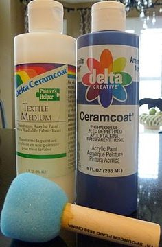 How to used Textile Medium and turn acrylic paint into DURABLE fabric paint! (N… How to used Textile Medium and turn acrylic paint into DURABLE fabric paint! (NOTE the key word is durable – you can paint on material with… Continue Reading → Painting Tips, Fabric Painting, Fabric Art, Fabric Crafts, Paint Fabric, Painting Curtains, Painting Techniques, Fabric Material, Stenciled Curtains