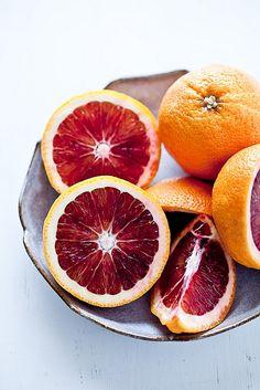 Blood Oranges, my FAVORITE orange!!  very sweet, and juicy...