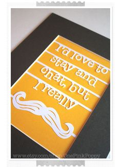 Puns and paper for Mustache Monday