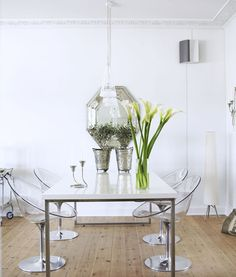 Awesome lucite chairs