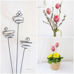 zápich pro vajíčko spirálka Originální drátovaný zápich se spirálkou :o) Zápich je určený pro Vaše velikonoční vajíčkai barevnékraslice. Zápich můžete zapíchnout do květináče s jarními květinami nebo do vázy s jarními proutky např. kočiček, zlatého deště, zelených lístků, apod. Vaší fantazii se meze nekladou. A můžete si tak naprostojednoduše ...