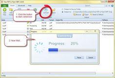 Free PDF to Flash SWF, software gratuito para convertir documentos PDF a archivos de Flash