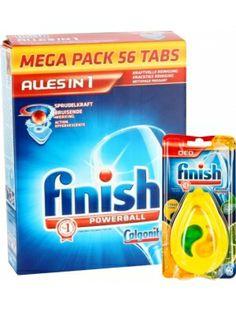 FINISH CALGONIT 56szt ALLES IN 1 + FINISH 15g Citrus Limone