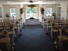 Ceremony room at the Italian Villa, Compton Acres - love the arch :)