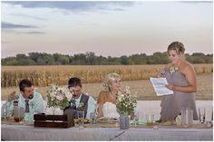 Maid of honor's speech - vintage, barn wedding, country