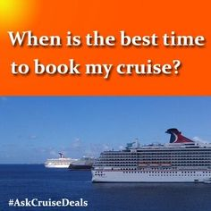 Ask any questions to Cruise Deals and we'll be happy to help you find the best deal!