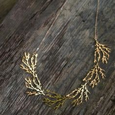 Filament Necklace gold by nervoussystem on Etsy