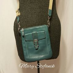 Coach Green Crossbody Purse Coach Green Crossbody Purse. This cute purse is in good used condition. There is some minor marks as shown in the 3rd picture. The strap is adjustable. Nice quality crossbody purse! Coach  Bags Crossbody Bags